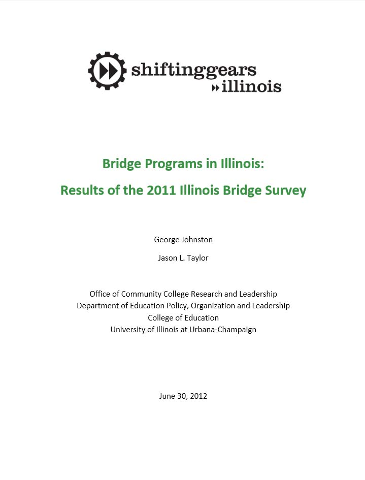 Adult Education Bridge Evaluation  U Of I