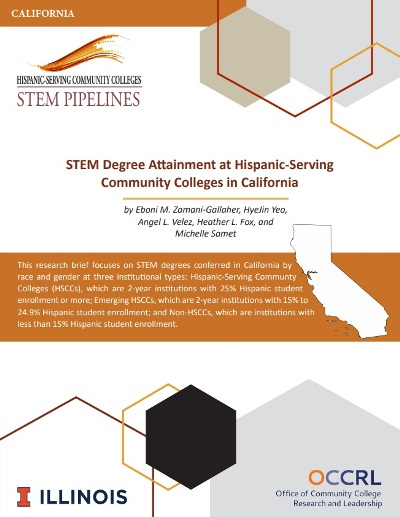 STEM Degree Attainment at Hispanic-Serving Community Colleges in California