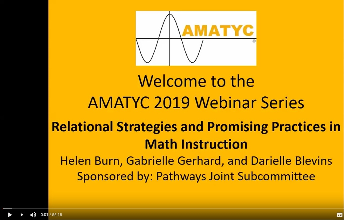 Relational Strategies and Promising Practices in Math Instruction